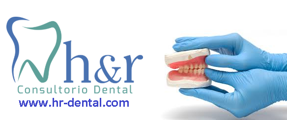 Logo de hr consultorio dental
